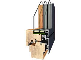 Fenster, HolzAlu flat